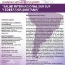 """Abierta inscripciones al seminario virtual de posgrado """"Salud Internacional Sur Sur y Soberanía Sanitaria"""""""
