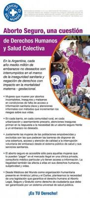Declaración de Médicos del Mundo en apoyo a la Ley de interrupción voluntaria del embarazo como prioridad de salud pública, justicia social y derechos humanos de la mujer