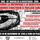 28º Marcha de la Resistencia en Plaza de Mayo
